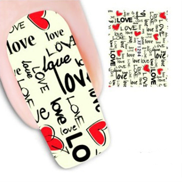 5 stcke buchstaben muster nail art aufkleber fr nagel design manikre zubehr wasser aufkleber nail art - Muster Fur Nagel