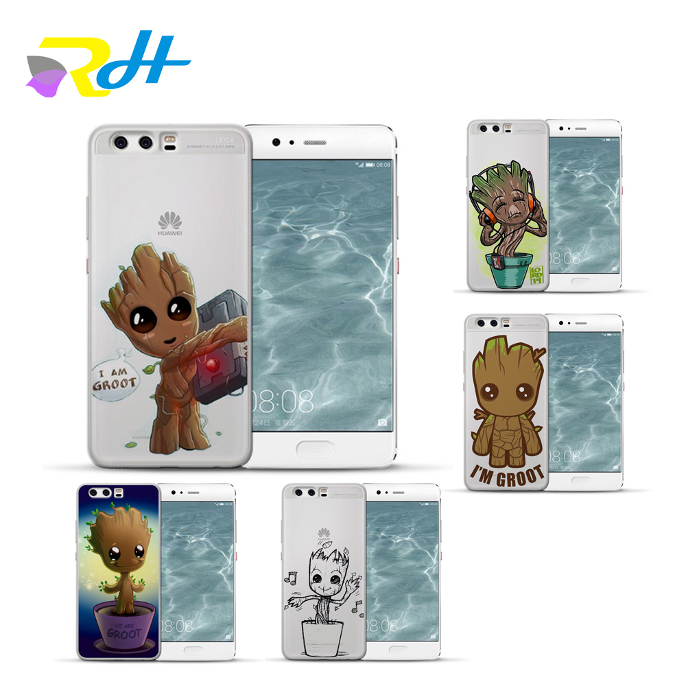 For funda Huawei P10 lite Guardians of the Galaxy cover for Huawei P9 lite case 2017 fashion for P10 Lite P9 Lite P10 Plus case