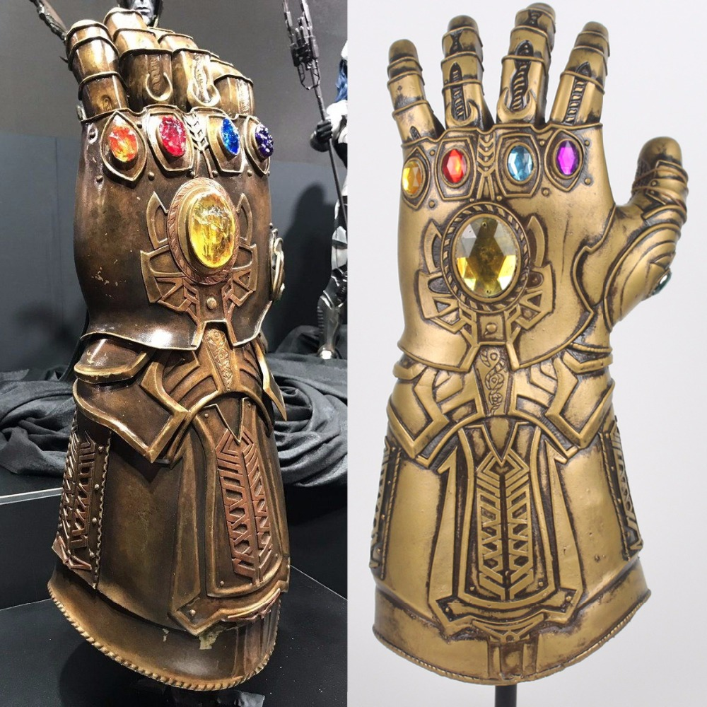 Thanos Infinity Gauntlet vengadores Infinity War guantes Cosplay superhéroe vengadores Thanos látex Glove Halloween Party Props Deluxe