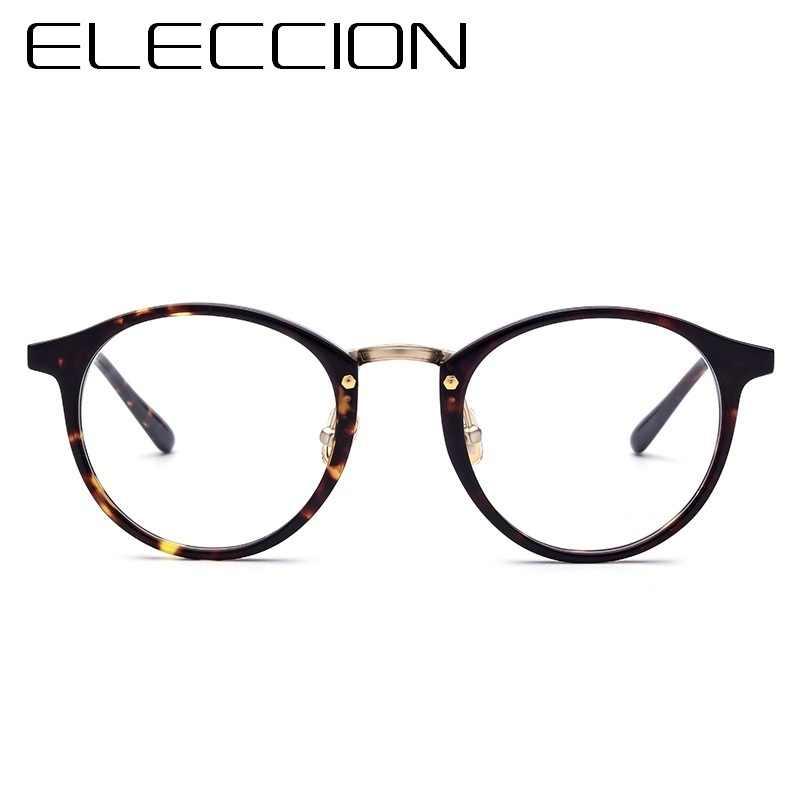 171107401a4 ... ELECCION Eyewear Acetate Frames Round Glasses Frame For Men 2018 New  Optical Myopia Prescription Eyeglass Women ...