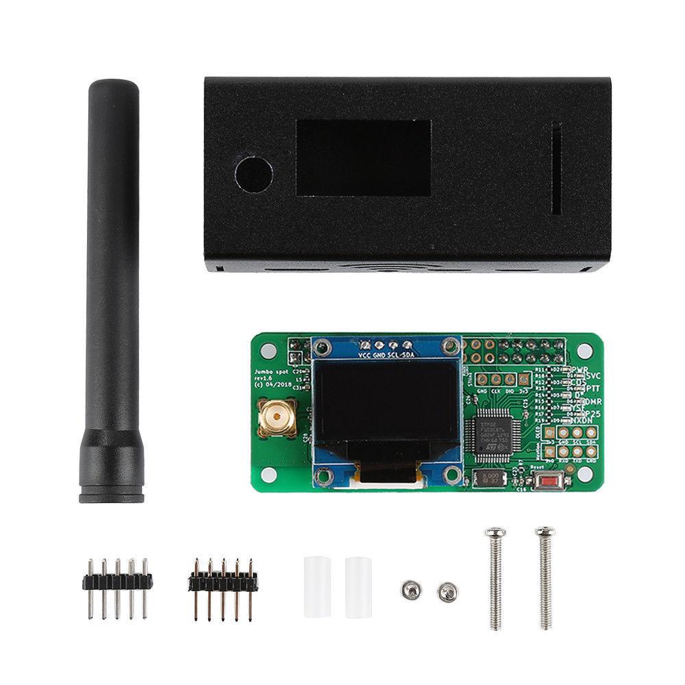 2019 V1.7 Jumbospot UHF VHF UV MMDVM Hotspot For P25 DMR YSF DSTAR NXDN Raspberry Pi Zero 3B + OLED+Metal Case +Antenna