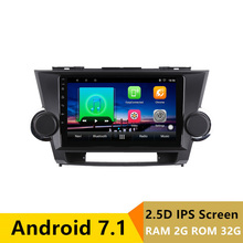 9″ 2+32G 2.5D IPS Android 7.1 Car DVD Multimedia Player GPS For Toyota Highlander 2009 – 2011 2012-2014 radio stereo navigation