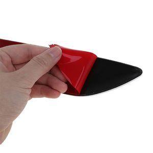Image 2 - 1 زوج القرش الخياشيم سيارة مزينة ثلاثية الأبعاد تنفيس تدفق الهواء درابزين ملصق مائي غطاء محرك للسيارات ملصقات جانبية