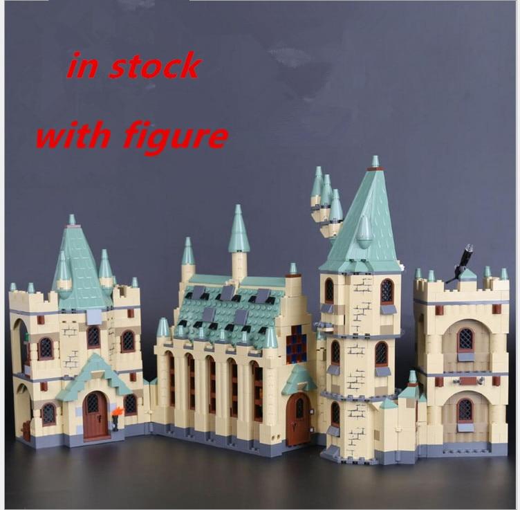 compatible legoing harry potter Castle 4842  LEPIN Harry Potter 16030 Hogwart's Castle 1340pcs Building Blocks  Building Blocks harry potter ollivanders dumbledore the elder wand in box prop replica