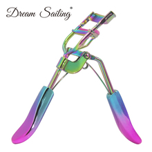 False Eyelashes Curler Clip With Rainbow Electroplating Handle For Woman Stainless Steel Makeup Cosm
