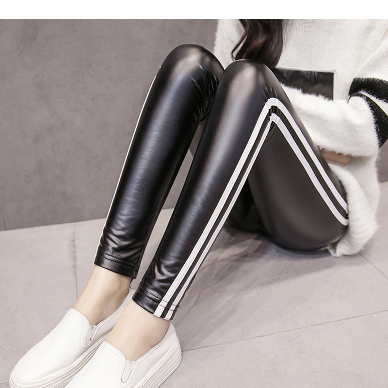 Jujuland  Free Dropshipping Women Hot Sexy Black Wet Look Faux Leather Leggings Slim Shiny Pants Plus Size S M L Xl Xxl