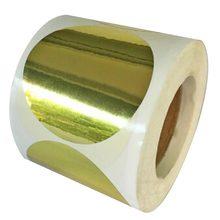 Лучшие 2 «золотой металлик Цвет код точка Стикеры этикетки 500/roll Постоянный самоклеящиеся блестящие Стикеры