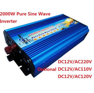 4000w Peak power inverter 2000W pure sine wave 12V 24V 48V DC TO 110V 120V 220V AC digital display