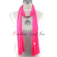 12 Pieces Lot Bright Pink Angel Wings Cross Jewellery Pendant Necklace Scarf SC0032