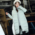 Winter New Fashion Long Coat Slim Thickened Turtleneck Warm Jacket Cotton Padded Zipper Plus Size Outwear Casacos 4 Colors D105