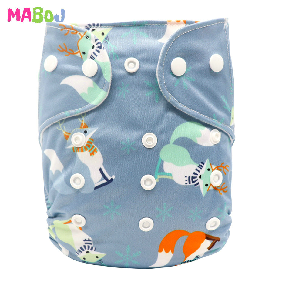 MABOJ Diaper Baby Pocket Diaper Washable Cloth Diapers Reusable Nappies Cover Newborn Waterproof Girl Boy Bebe Nappy Wholesale - Цвет: PD5-5-27