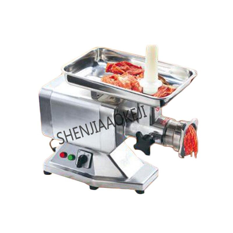 Machine de remplissage automatique commerciale de viande hachée de hachoir à viande électrique de HM-12 220 V 850 W matériel électrique d'alliage de magnésium