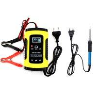 Yangtze 12 v 6a chumbo ácido bateria inteligente digital display lcd carro carregador e 60 w ferro de solda elétrica calor lápis