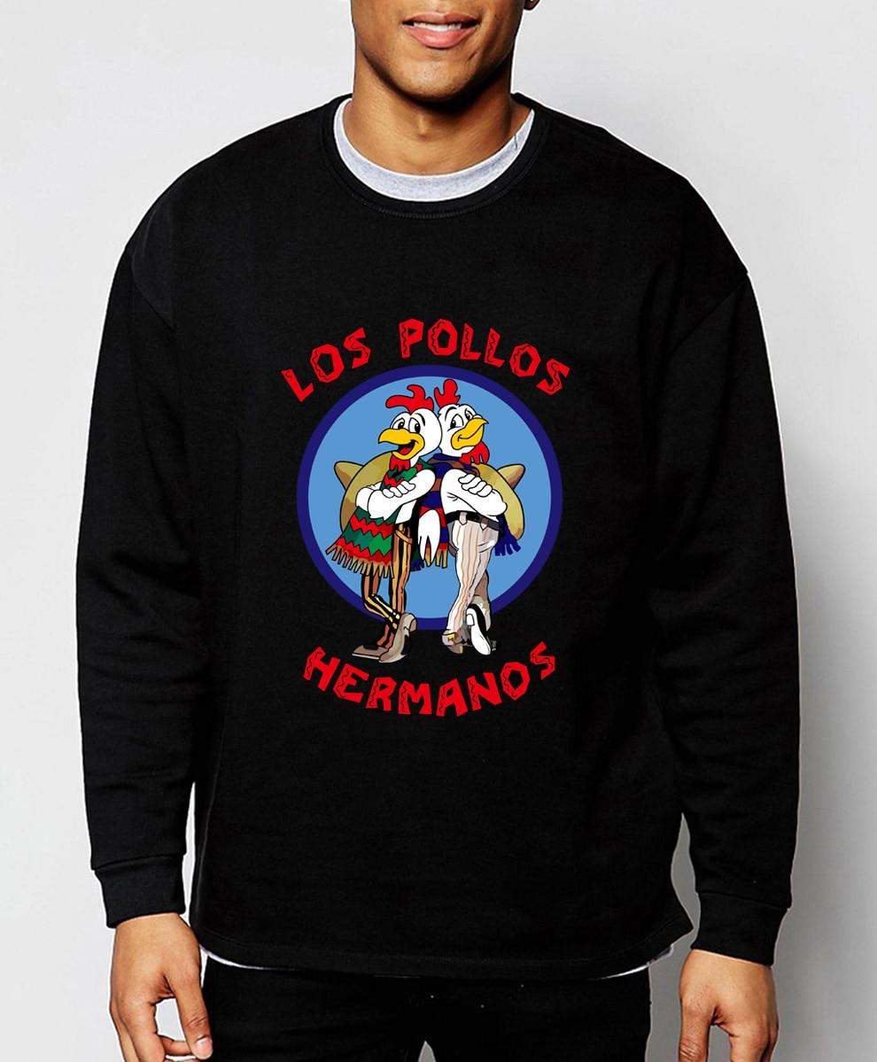 Men's Fashion Breaking Bad Sweatshirts LOS POLLOS Hermanos The Chicken Brothers 2019 New Spring Winter Fashion Hoodies Men S-2XL