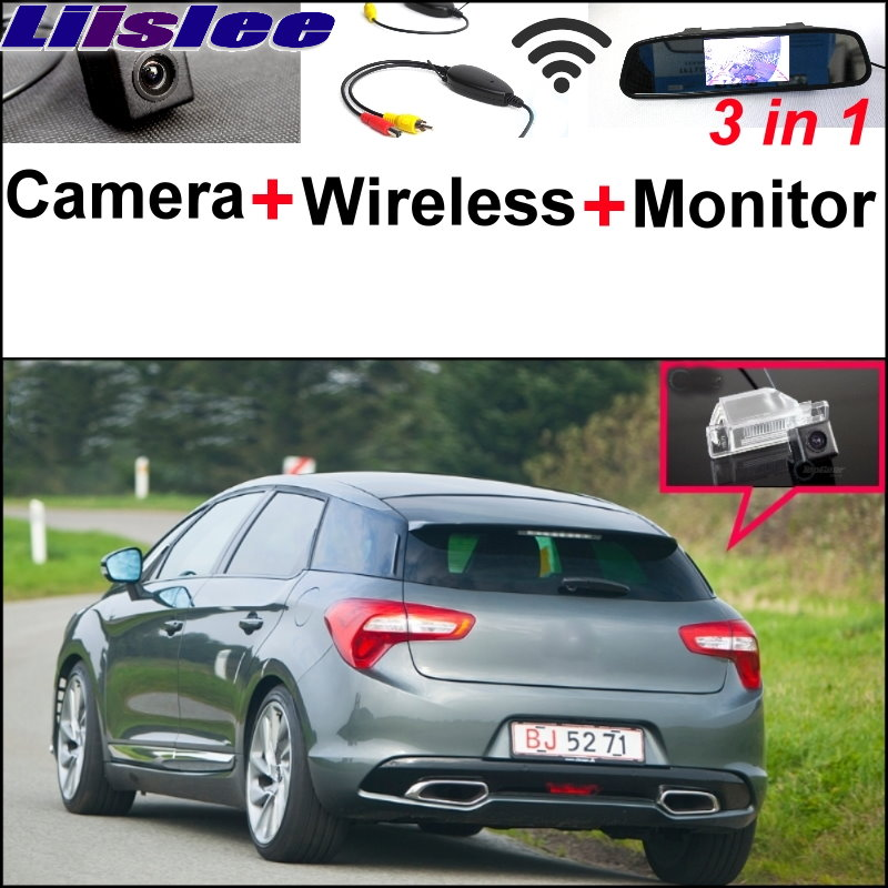 Liislee 3 in1 Special Rear View Camera + Wireless Receiver + Mirror Monitor Easy Parking System For Citroen DS5 DS 5 2011~2017 liislee 3in1 special rear view camera wireless receiver mirror monitor easy parking system for lexus ls430 celsior 2001 2017