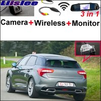 Liislee 3 in1 Special Rear View Camera + Wireless Receiver + Mirror Monitor Easy Parking System For Citroen DS5 DS 5 2011~2017