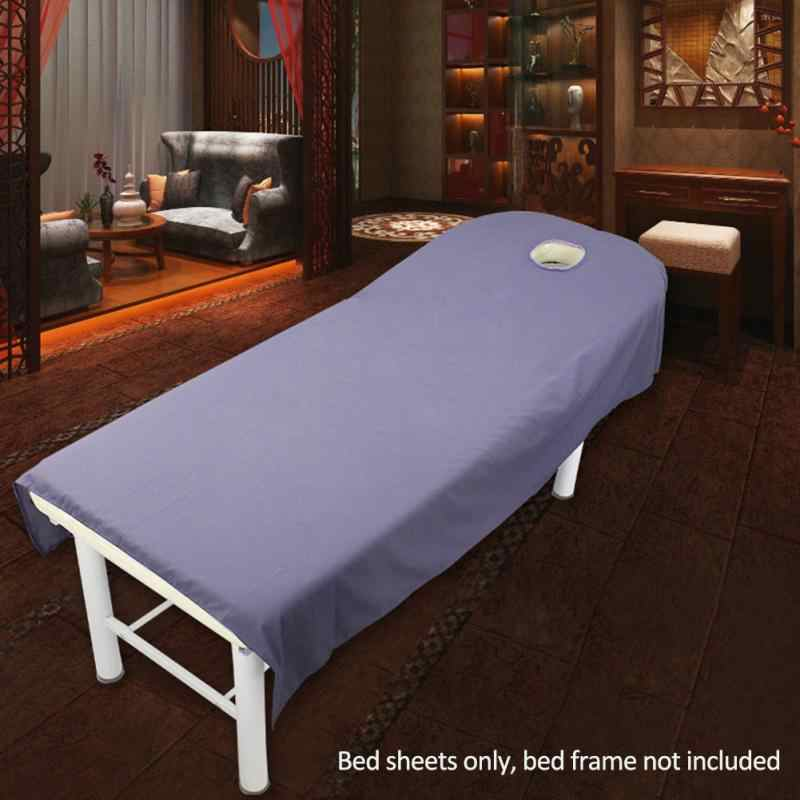 2019 NEW HOT SALES  Cosmetic salon sheets SPA massage treatment bed table cover sheets with hole 80cm*190cm