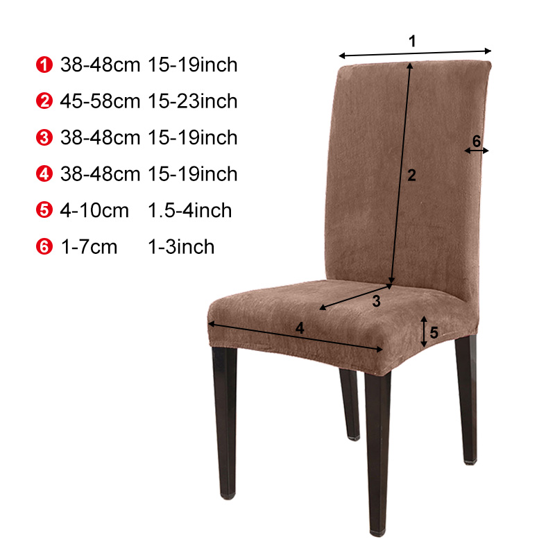 1 to 6 Pcs Removable Chair Cover Made with Stretchable Thick Plush Material for Banquet Chair 1