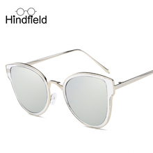 Hindfield Moda Ojo de Gato gafas de Sol de Marco de Metal Gafas de Sol de Señora de la Marca de Lujo Diseñador Vintage Shades Gafas gafas de sol UV400