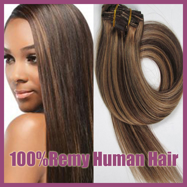 100 Brazilian Remy Clips In Human Real Hair Extensions Full Head