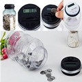 Clear Digital Money Coin Counter Jar-Electronic Piggy Bank With  LCD Unique Saving Money*Money Boxes