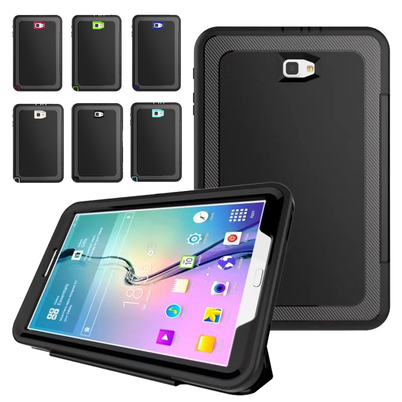 For SM-T580 Case For Samsung Galaxy Tab A 10.1 2016 T580 T585 Kids Safe Shockproof TPU Cover Armor Hybrid 360 full protection hh xw dazzle impact hybrid armor kickstand hard tpu pc back case for samsung galaxy tab a 8 0 inch p350 p355c t350 t355 sm t355
