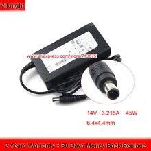 Быстрая блок питания 14 в 3.215A A4514-DSM адаптер переменного тока для samsung U28E590D UE22F5400 T24C350LT TD590 CF591 СВЕТОДИОДНЫЙ монитор