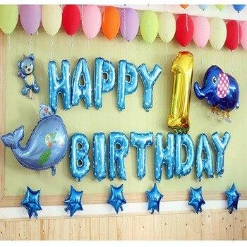 FENGRISE es un niño niña bebé pies globos de aluminio rosa azul bebé lámina de ducha globos cumpleaños fiesta de recién nacido decoración globo