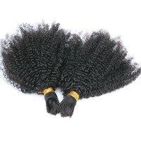 Афро кудрявый вьющиеся человека Плетение объемных волос бразильский 3 шт. Синтетические навальные волосы расширения Реми Синтетические на