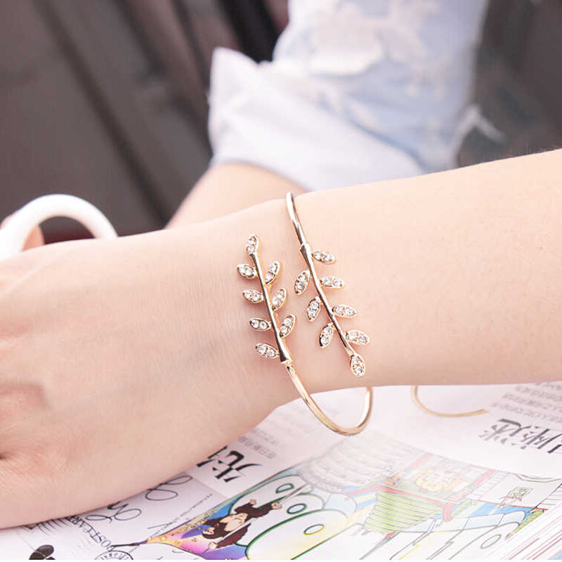 New Party Jewelry Adjustable Bangles 1 piece  Women Opening Bracelet Fine Bangles Opening  Bangles  Hot  Leaf  Bangles