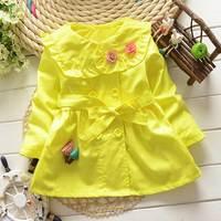 Ropa de moda para niños niñas babi caída de flores chaquetas de primavera ropa de abrigo capa del otoño del bebé chaqueta de los niños
