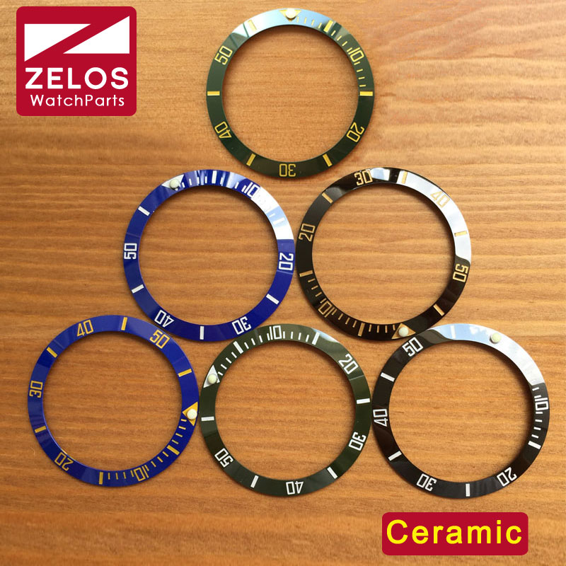 Inserir para Rlx Peças de Reposição Nova Alta Qualidade Cerâmica Rolex Assista Bezel Sub Mar Relógio Aftermarket 116610 116613 114060 38mm