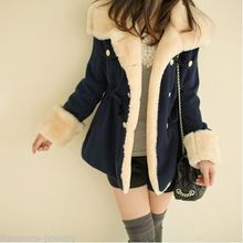 2016 Women's Warm Winter Faux Fur Hooded Parka Coat Overcoat Long Jacket Outwear Best Quality