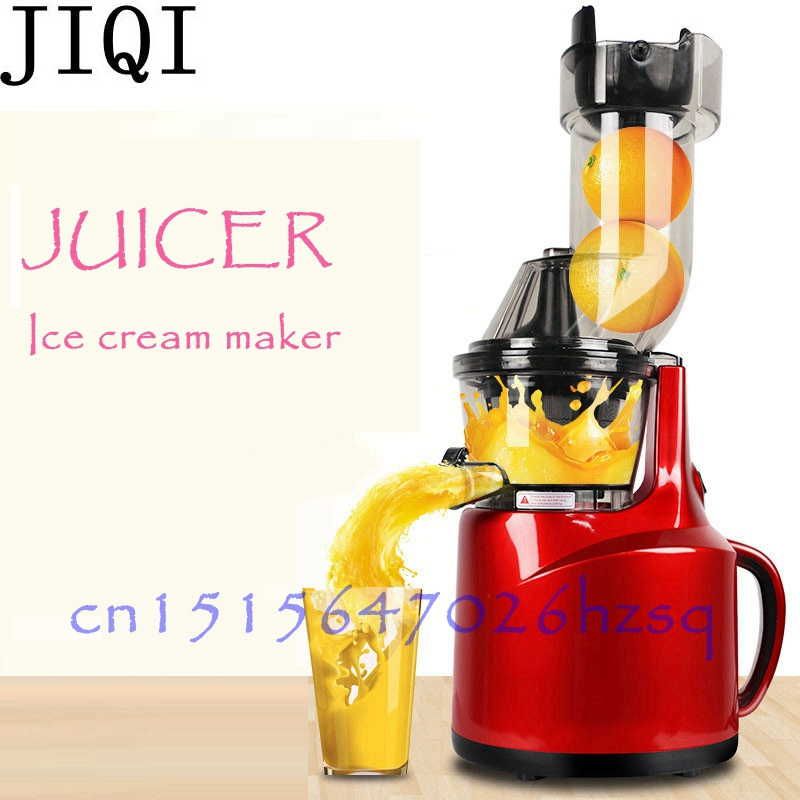 JIQI 220V 150W Electric Multifunction Juicer Fruit Ice cream maker household Food processor Juice Extractor Stainless steel body wavelets processor