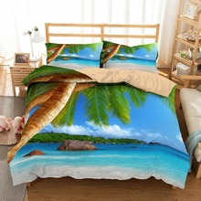 Beach holiday lovers printing Bedding Set Duvet Cover Comforter Bedding Sets 13 Size US AU GB Comforters Bedclothes Bed Linen стоимость