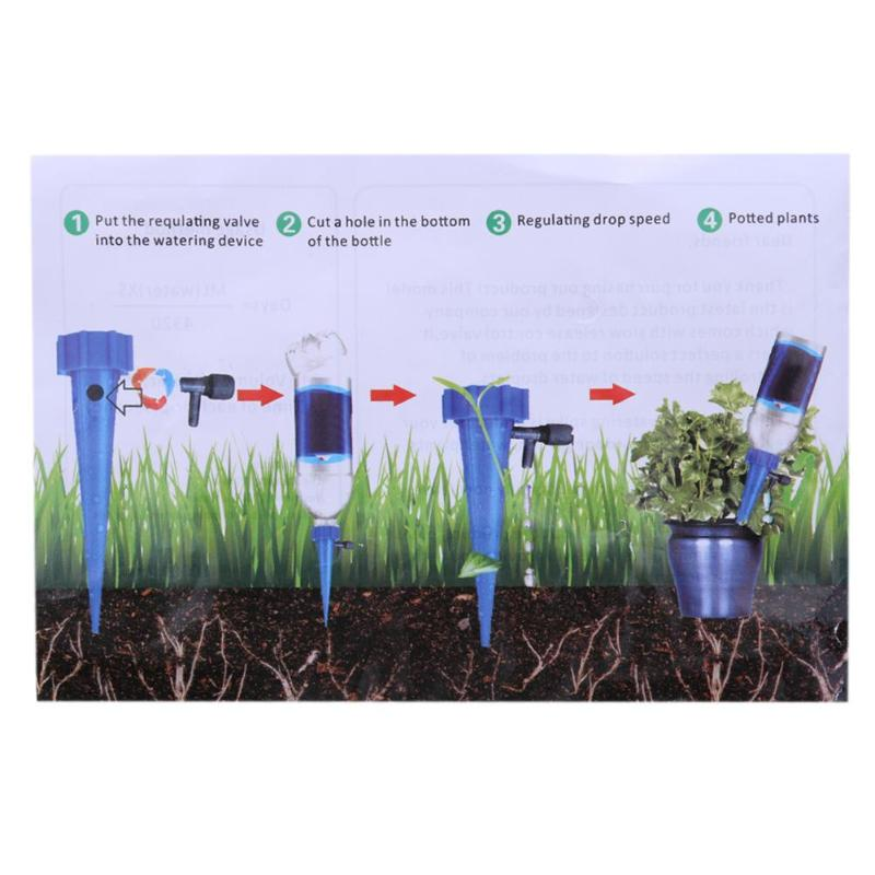 Auto Drip Irrigation Watering System Automatic Watering Spike for Plants Flower Indoor Household Waterers Bottle Drip Irrigation