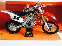 NEWRAY 1/6 Scale Motorcycle Model Toys HONDA CRF450R #14 Racing Motorbike Diecast Metal Model Toy For Gift,Collection,Kids