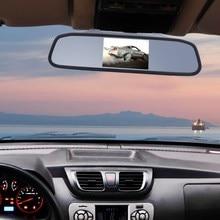 Автомобиль Парковочные системы Системы 4.3 TFT ЖК-дисплей заднего хода зеркало заднего вида Мониторы + светодиодные фонари заднего вида Камера высокое качество