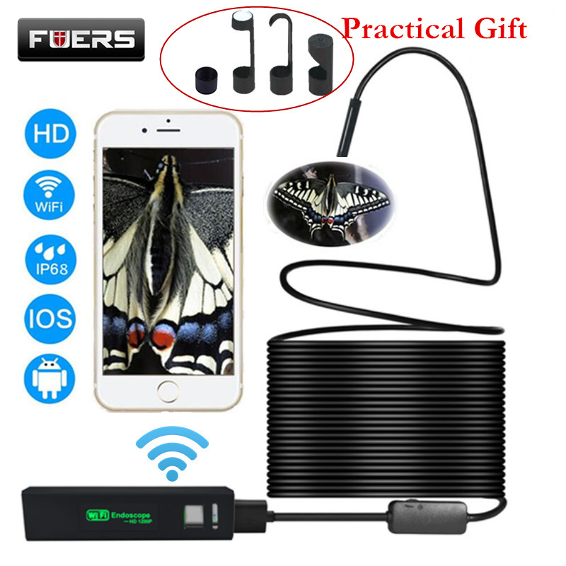 Fuers USB Wifi Endoscope Camera Android 1200P Endoscope Camera Inspection Semi Rigid Hard Tube Softwire Android iOS BorescopeFuers USB Wifi Endoscope Camera Android 1200P Endoscope Camera Inspection Semi Rigid Hard Tube Softwire Android iOS Borescope