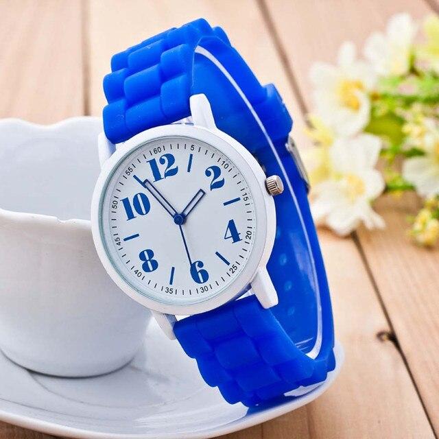 Susenstone 2019 Watch Women Silicone Colorful Watch Boy Girl Wristwatch Luxury B