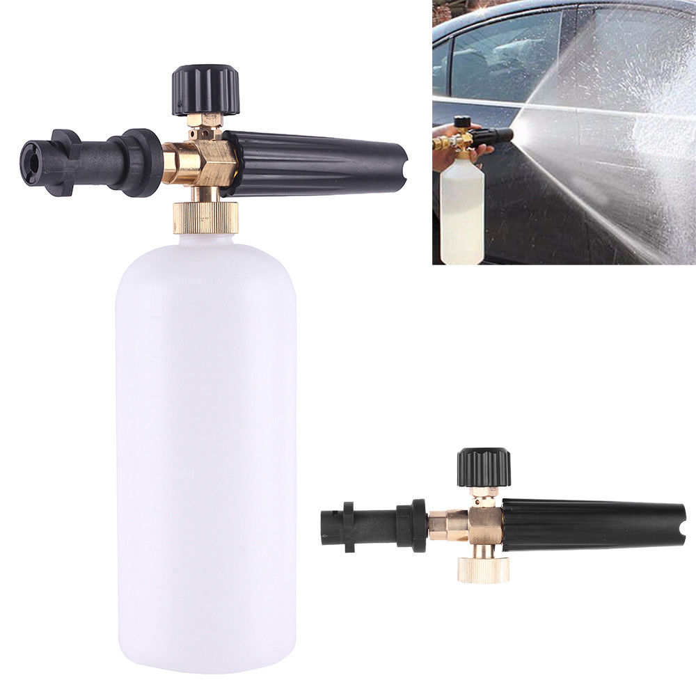 HNYRI Pressure Washer Snow Lance Soap Foamer Nozzles Spray For Karcher K2 K3 K4 K5 K6 K7 Professional Car Washing Gun Adapter 1L(China)
