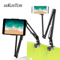 360 Adjustable Tablet Holder Stand Bed Desk Tablet Mount Support 3.5 to 10.6 inch Tablets PC Phone Stand For iPad Xiaomi iPhone