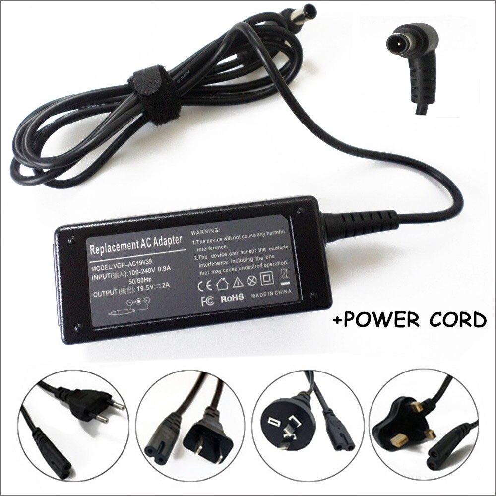 Каррегадор Тетрадь ноутбук 19.5 В 2A AC Адаптеры питания Батарея Зарядное устройство для cadernos Sony vaio VPCM121AX/l vgp-ac19v39 vgp-ac19v40