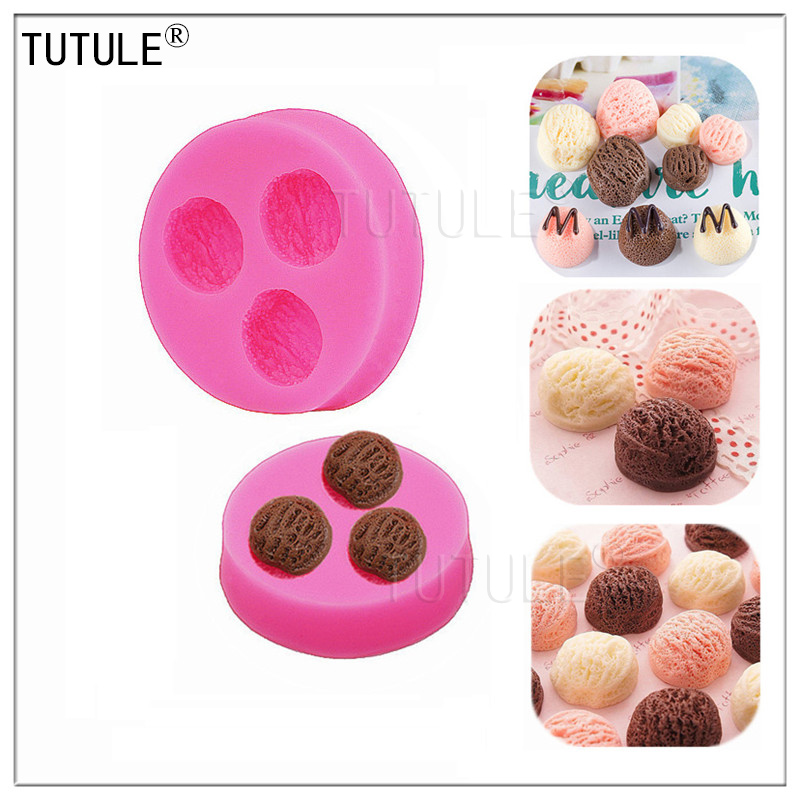 Top Fashion Rubber Eco-friendly Fda Lfgb Three-hole Walnut Soap Mold Bakeware Fondant Cake Decorating Tools Chocolate 2017 New(China)