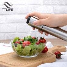 TTLIFE 1pc Stainless Steel Olive Pump Spray Bottle Oil Sprayer Pot Sauce Vinegar Cooking Tools Kitchen BBQ Tool