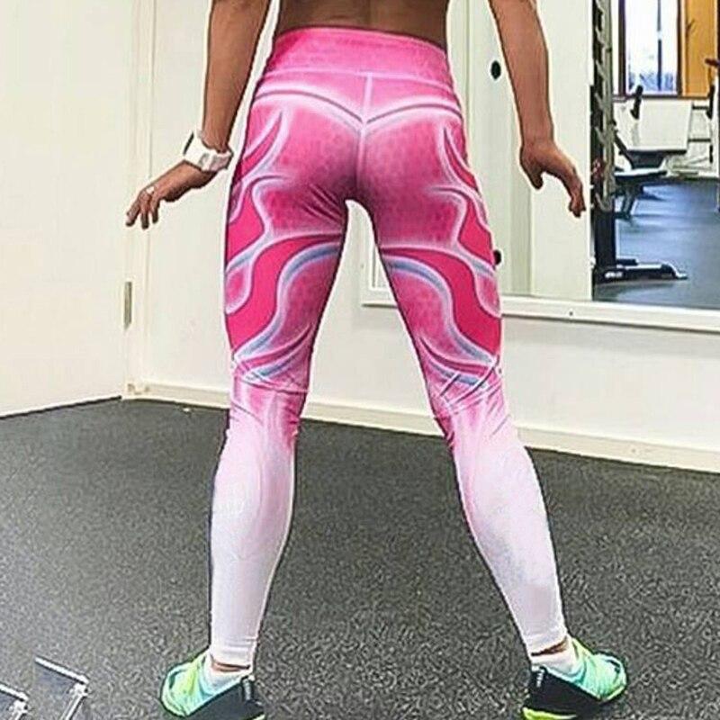 Новый Для женщин тощий пуш-ап Фитнес леггинсы Удобные Высокая талия спортивные упражнения, бег трусцой Йога брюки стрейч тонкий леггинсы