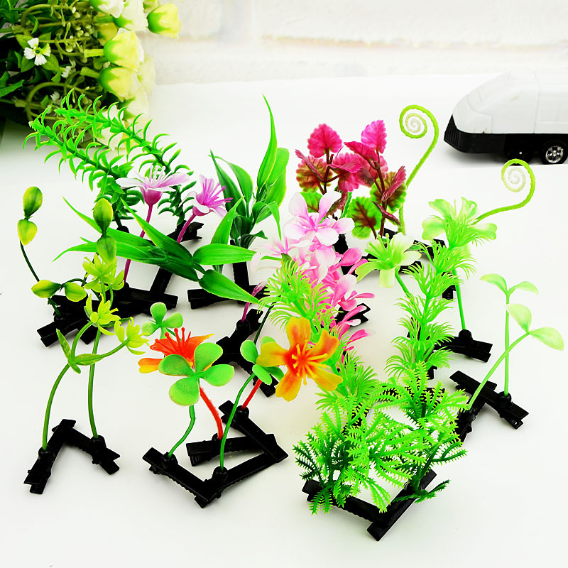 10Pcs/Lot New Cute Grass Hair Clip Barrtttes Girls Accessories Flower Mushroom Bean Hairclips Women Children Plants Hairpins halloween party zombie skull skeleton hand bone claw hairpin punk hair clip for women girl hair accessories headwear 1 pcs
