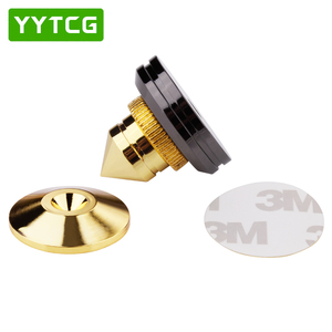 Image 5 - YYTCG 4 Sets  speakers Stand Feet Foot Pad Pure copper gold loudspeaker box Spikes Cone Floor Foot Nail M28*26
