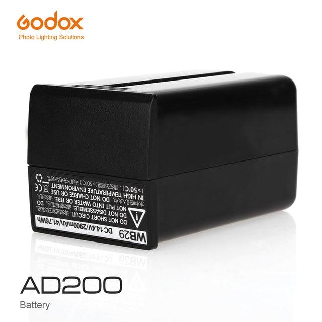 無料 Dhl Godox WB29 14.4V 2900 Mah リチウム電池のための Godox Witstro AD200 AD200PRO AD200 プロ (AD200 バッテリー)