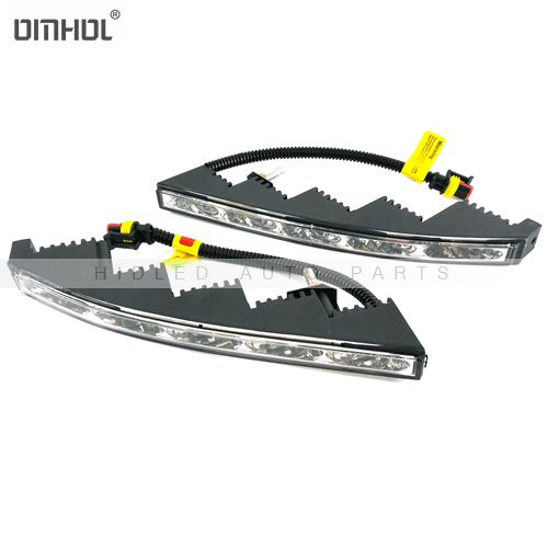 1 Set Universal Curved Slim-line 10w LED DRLs For All Vehicles